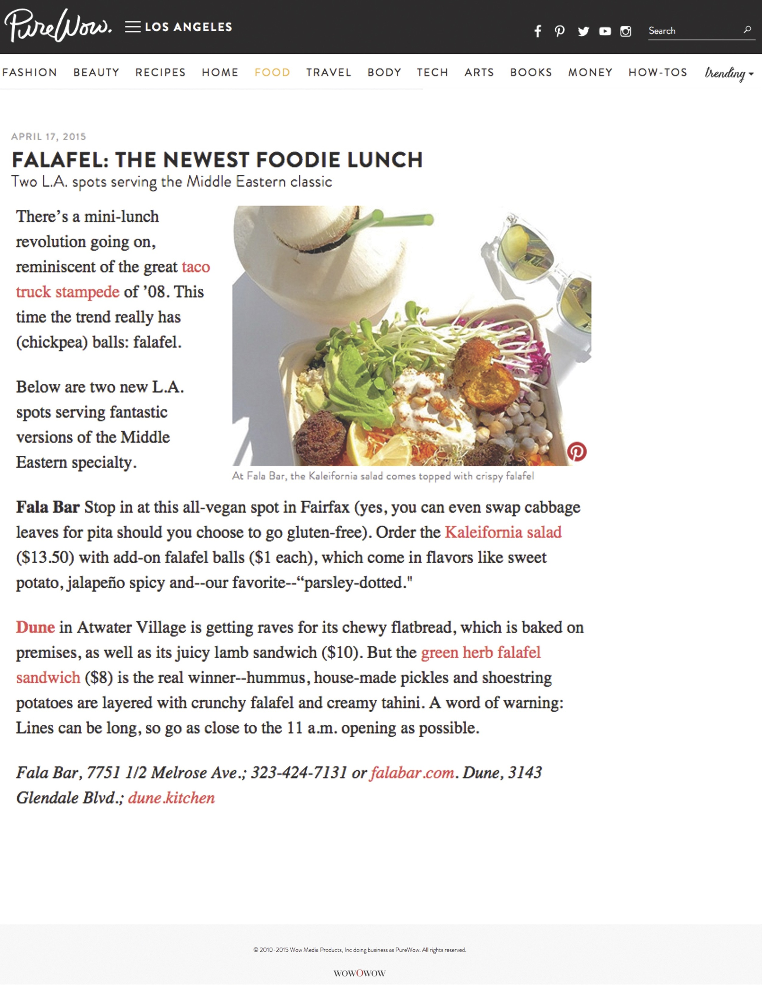 Report about Fala Bar / Purewow