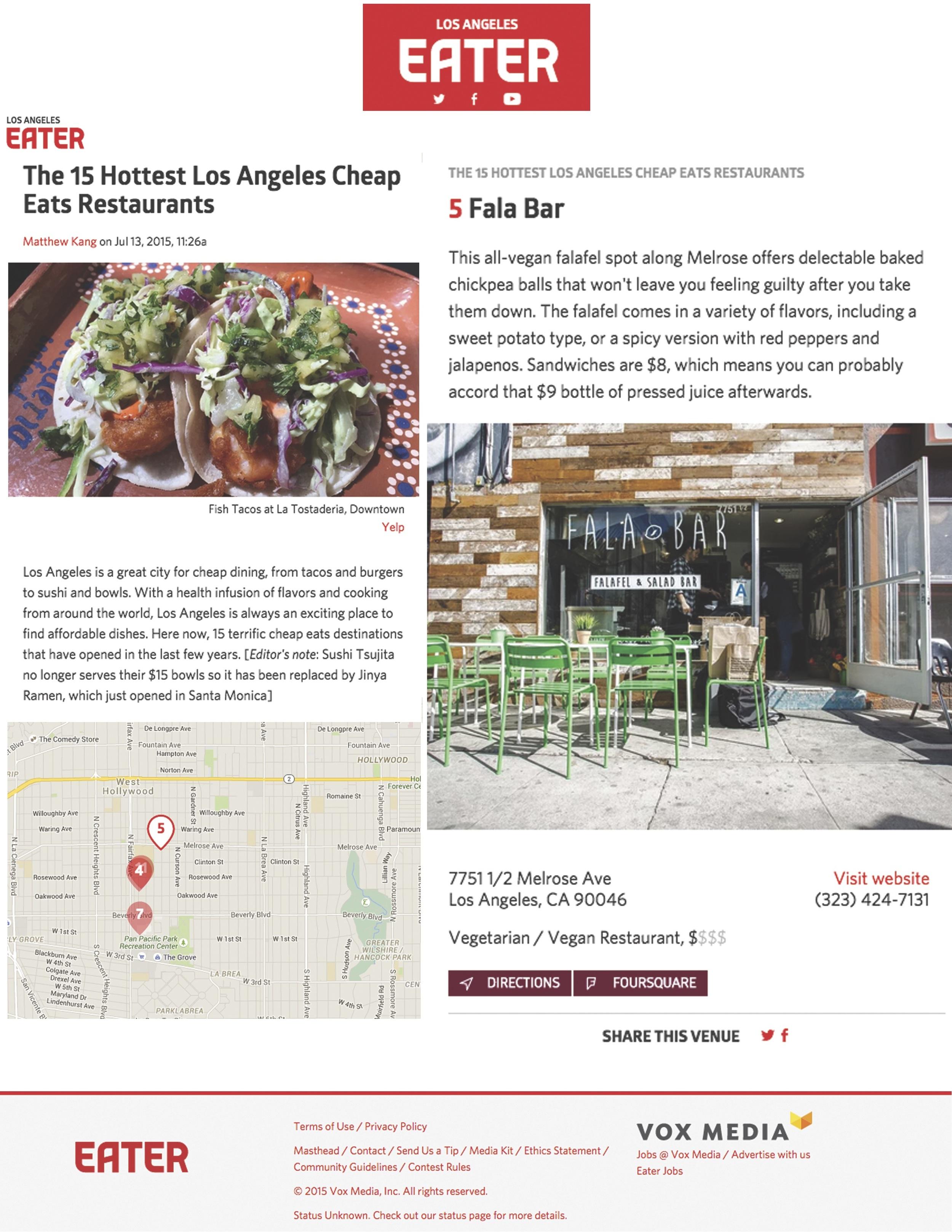 Report about Fala Bar / Loa Angeles Eater