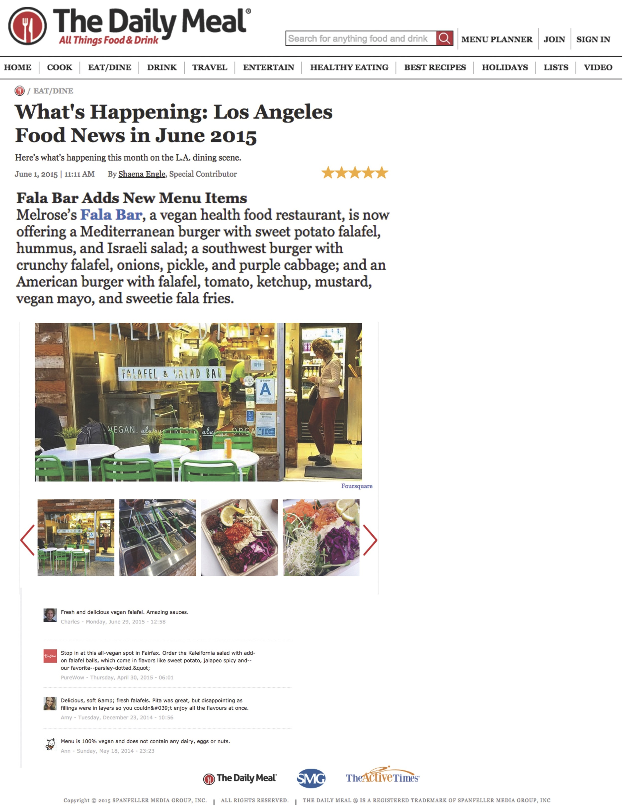 Report about Fala Bar / The Daily Meal