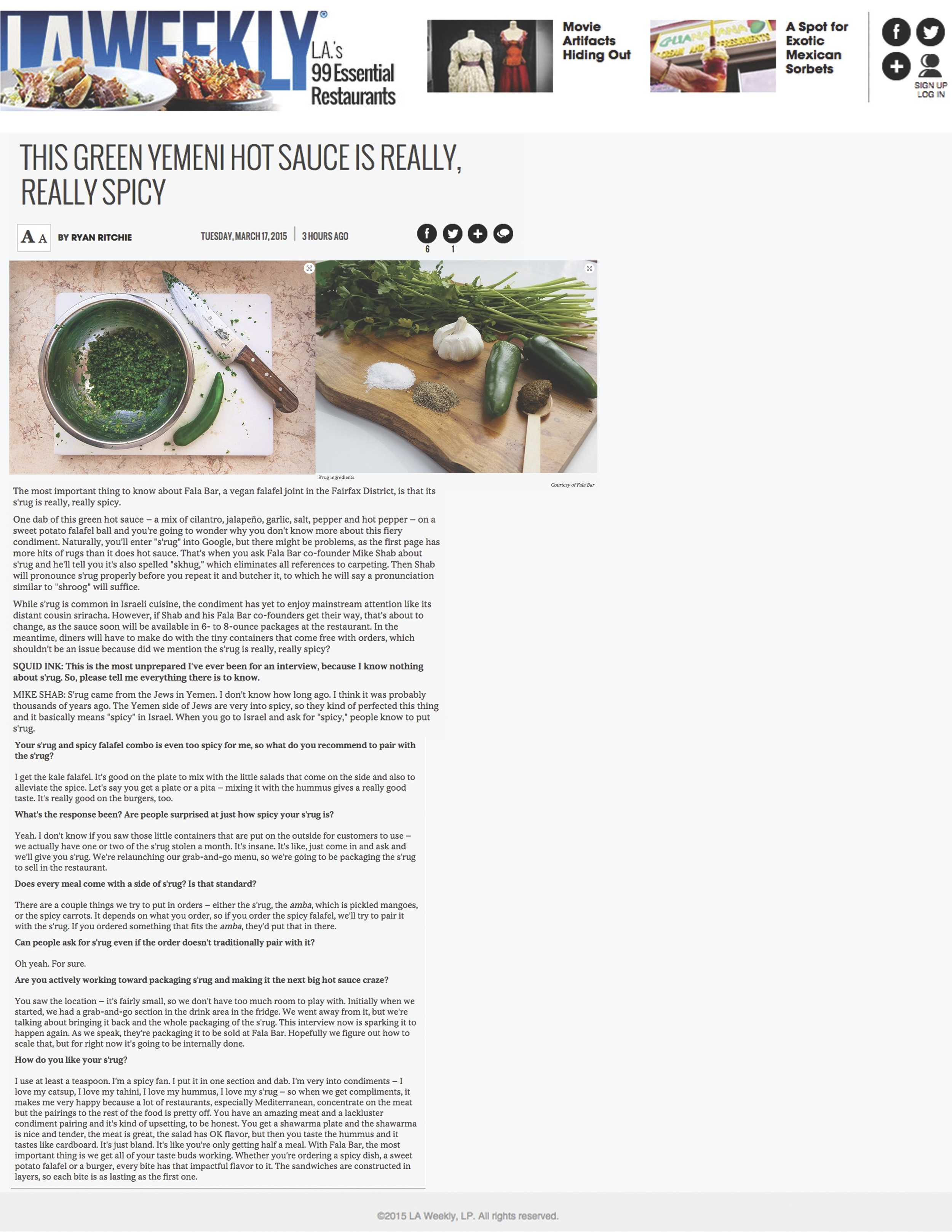 Report about Fala Bar / LA Weekly