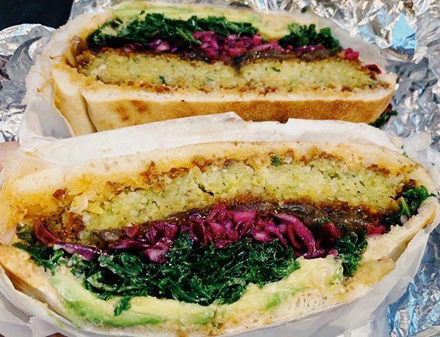 Making it easy to go meatless. Ph: @ginburri #kaleburger #falafelburger