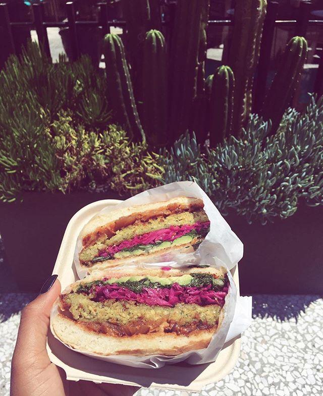 @melbossedup is bossing up our World Famous Kale Burger 🌎