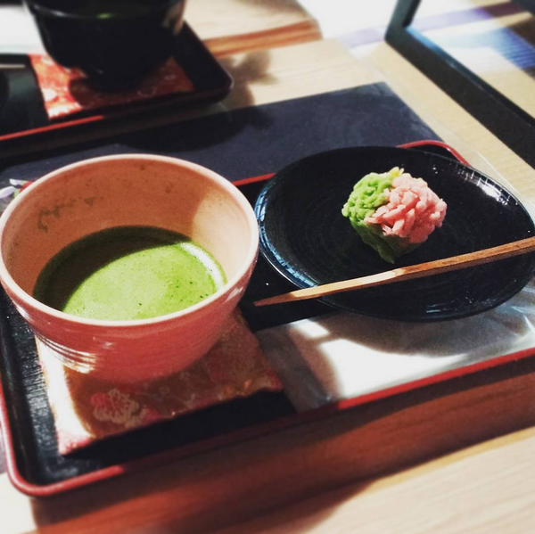 Matcha tea and wagashi sweets at a teahouse that claims to be the oldest tea establishment in Kyoto. This heritage might be doubtful, but it's still a wonderful spot to stop for some tea.