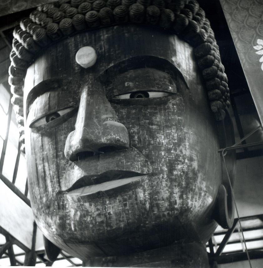 kyoto daibutsu wood head