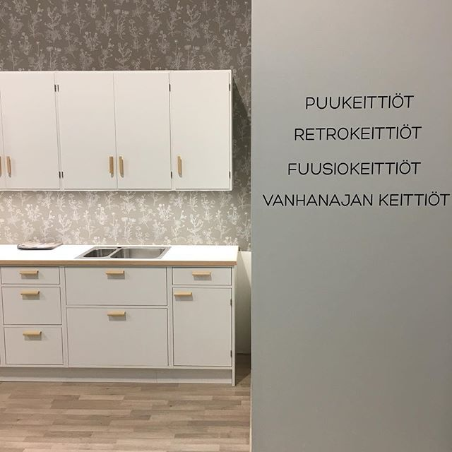 Puukeittiö Kevätmessuilla 2017 👍 #jalokaluste #kevätmessut2017 #keittiö #suomalainendesign #finnishdesign #design