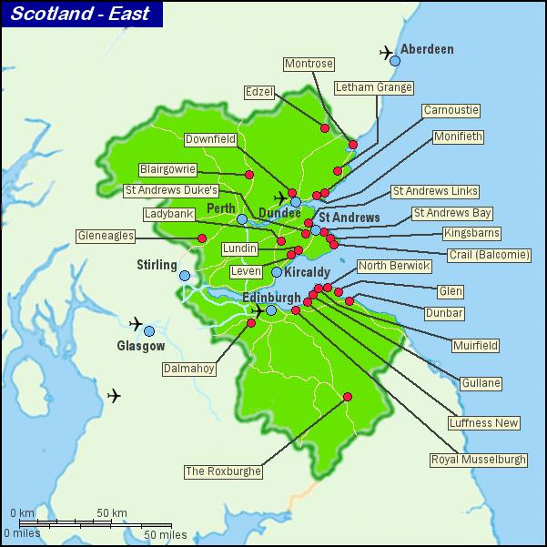 Scotland East Golf Courses