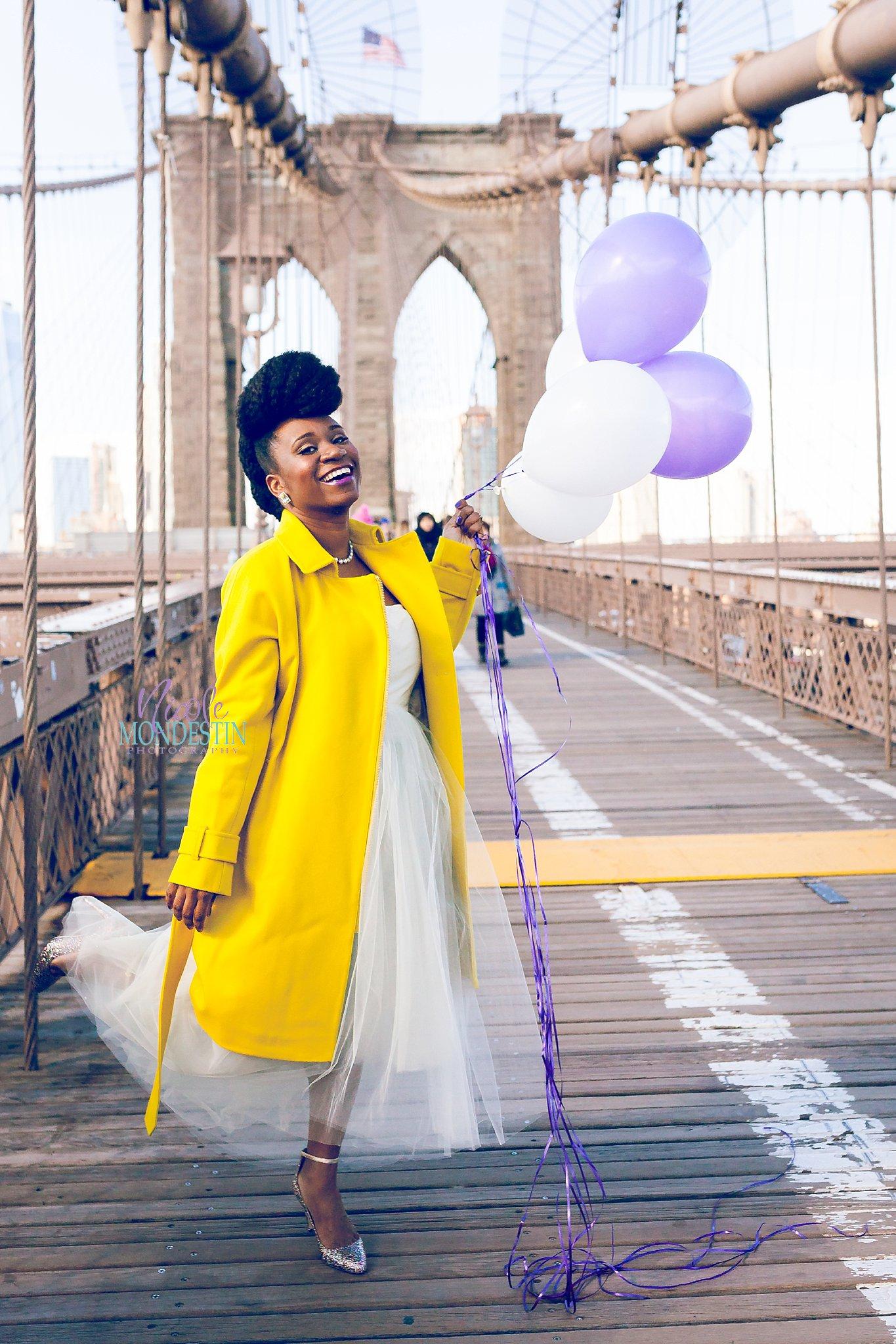 Brooklyn Bridge Birthday Portrait Session