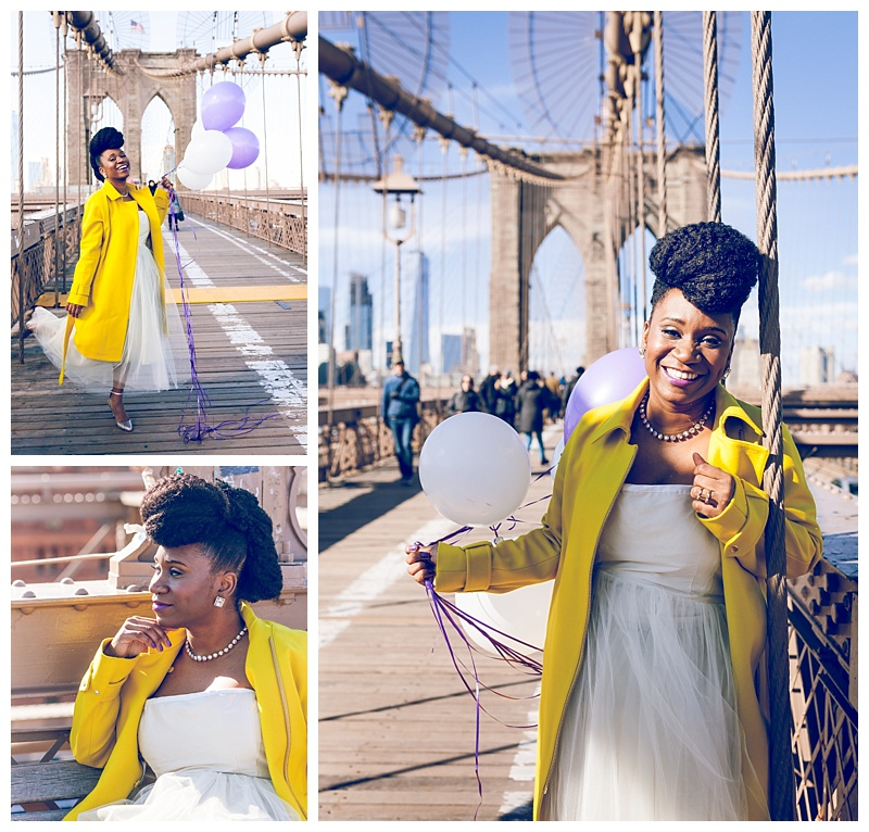 Black women brooklyn bridge, balloons, nicole mondestin photography