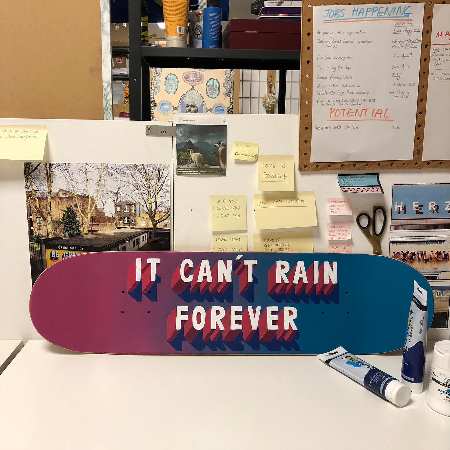 'It can't rain forever'