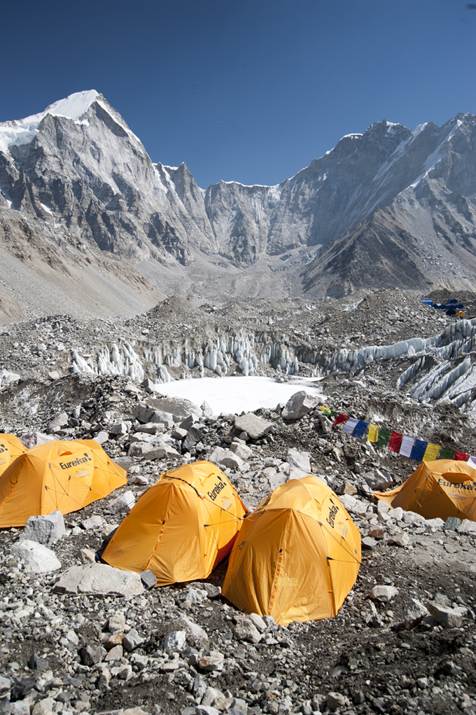 Tents at Mt. Everest base camp