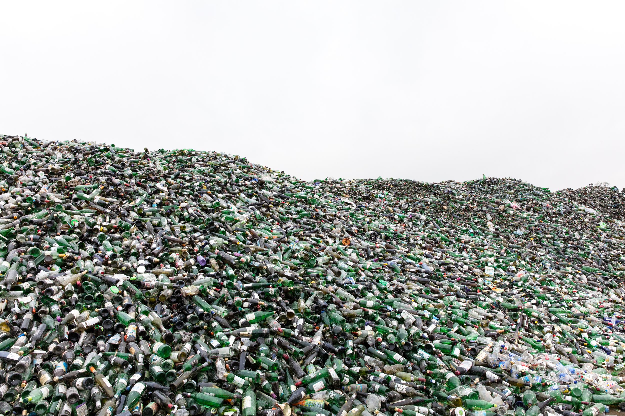 Glas Recycling / Flaschen