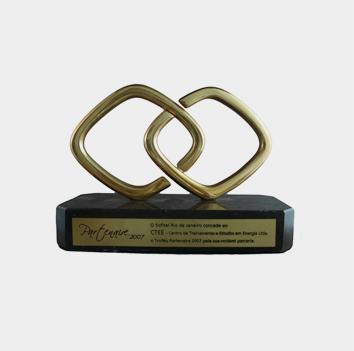 Prêmio Partenaire 2007,  entregue pelo Hotel Sofitel Rio de Janeiro ao CTEE, em reconhecimento a parceria realizada no ano de 2007