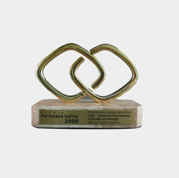 Prêmio Partenaire 2008,  entregue pelo Hotel Sofitel Rio de Janeiro ao CTEE, em reconhecimento a parceria realizada no ano de 2008