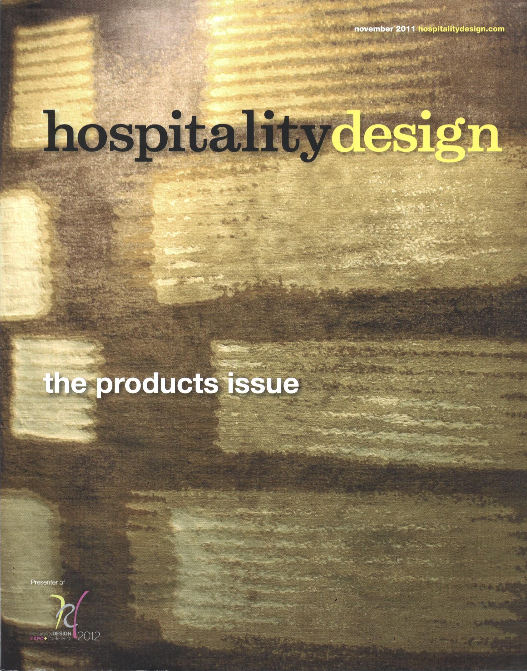 HOSPITALITY DESIGN, AUGUST 2011