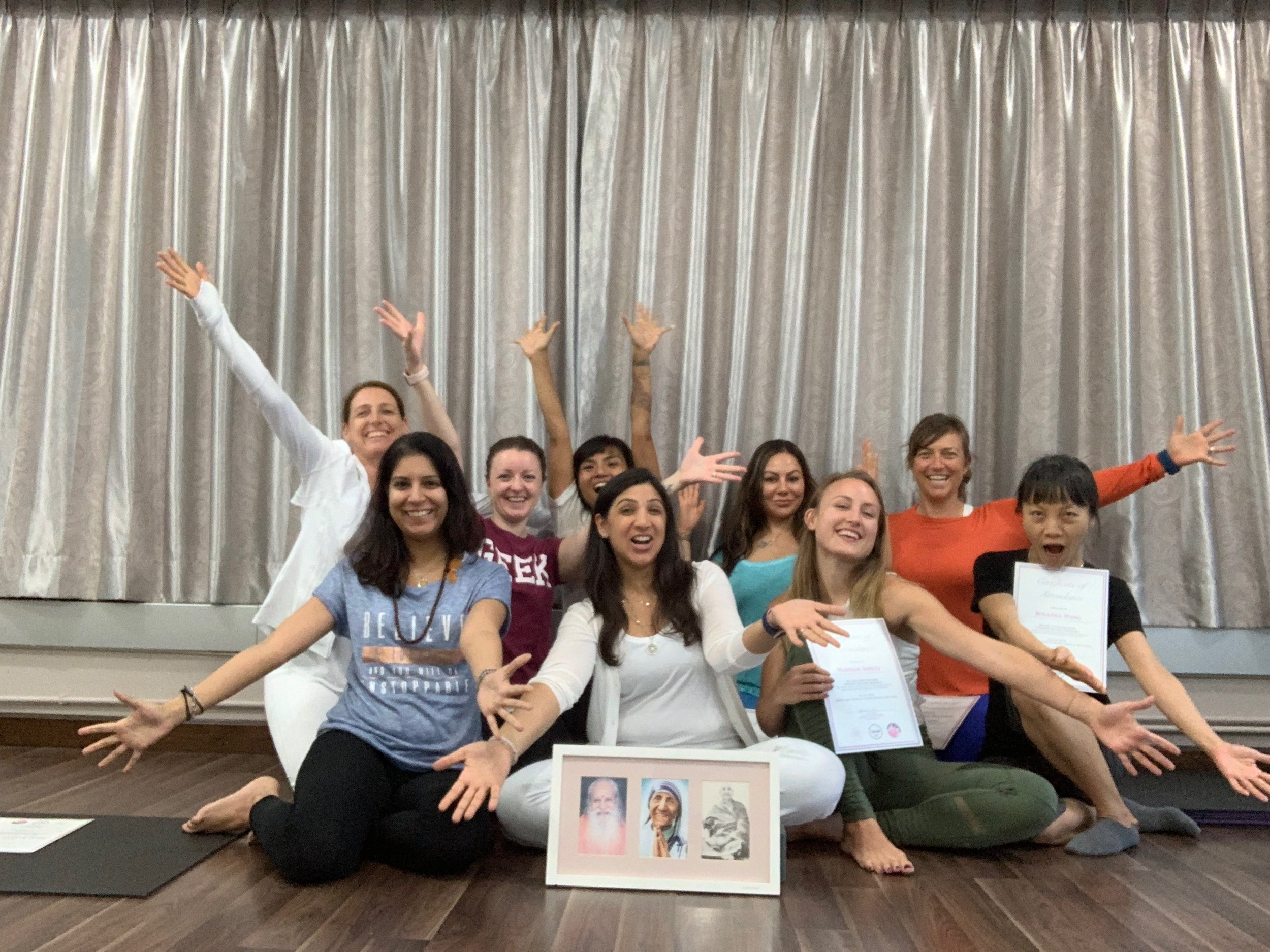 Congrats to the students who completed the Raja Yoga Foundation Course.