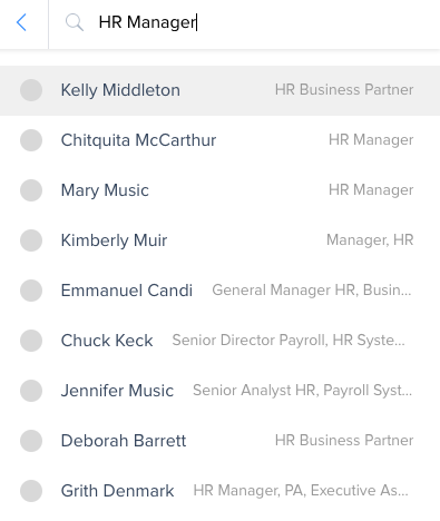 Step 3: Type in Job Title and find the right person