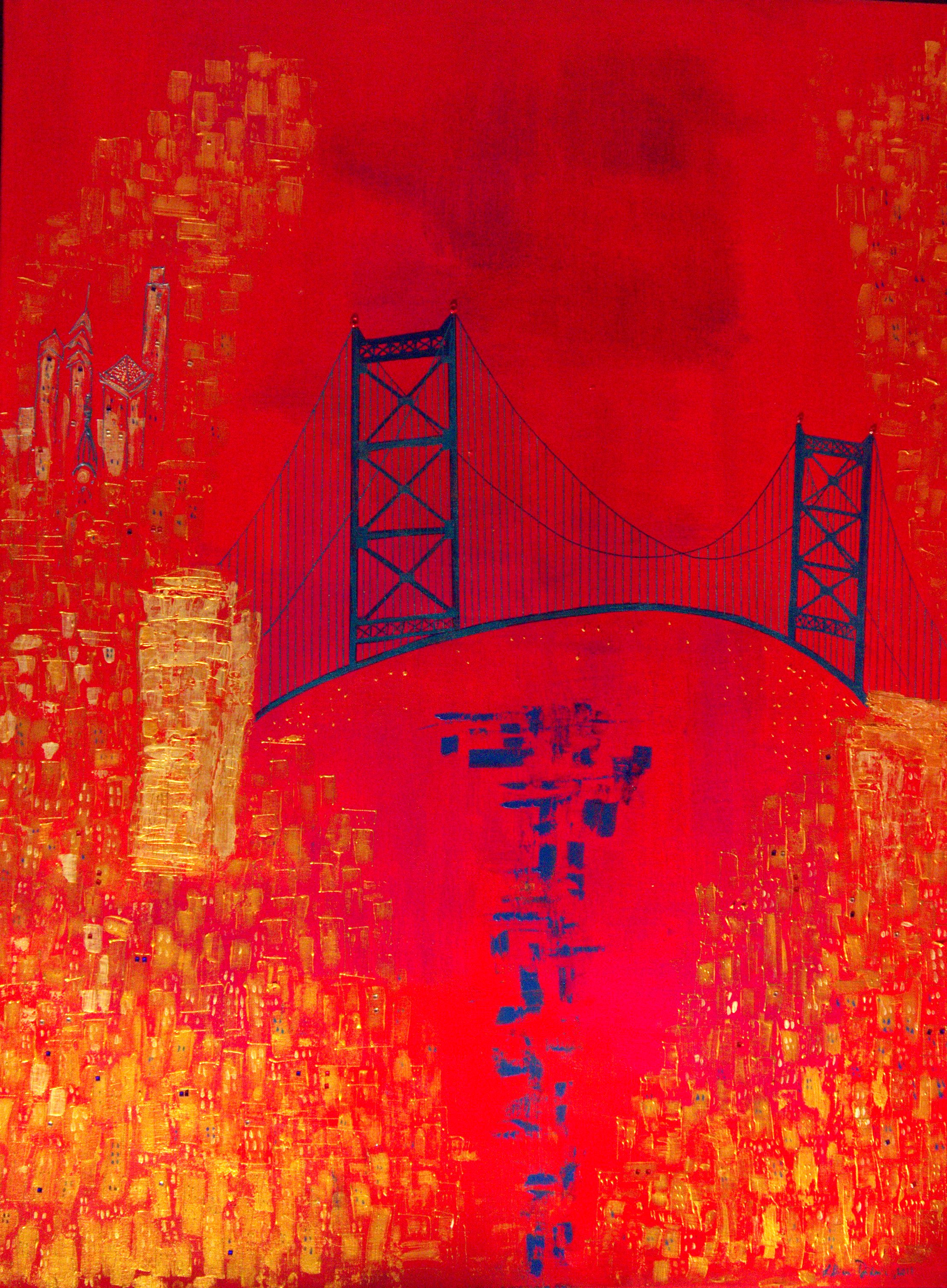 BRIDGE, 36-X48-, mixed media on canvas.jpg