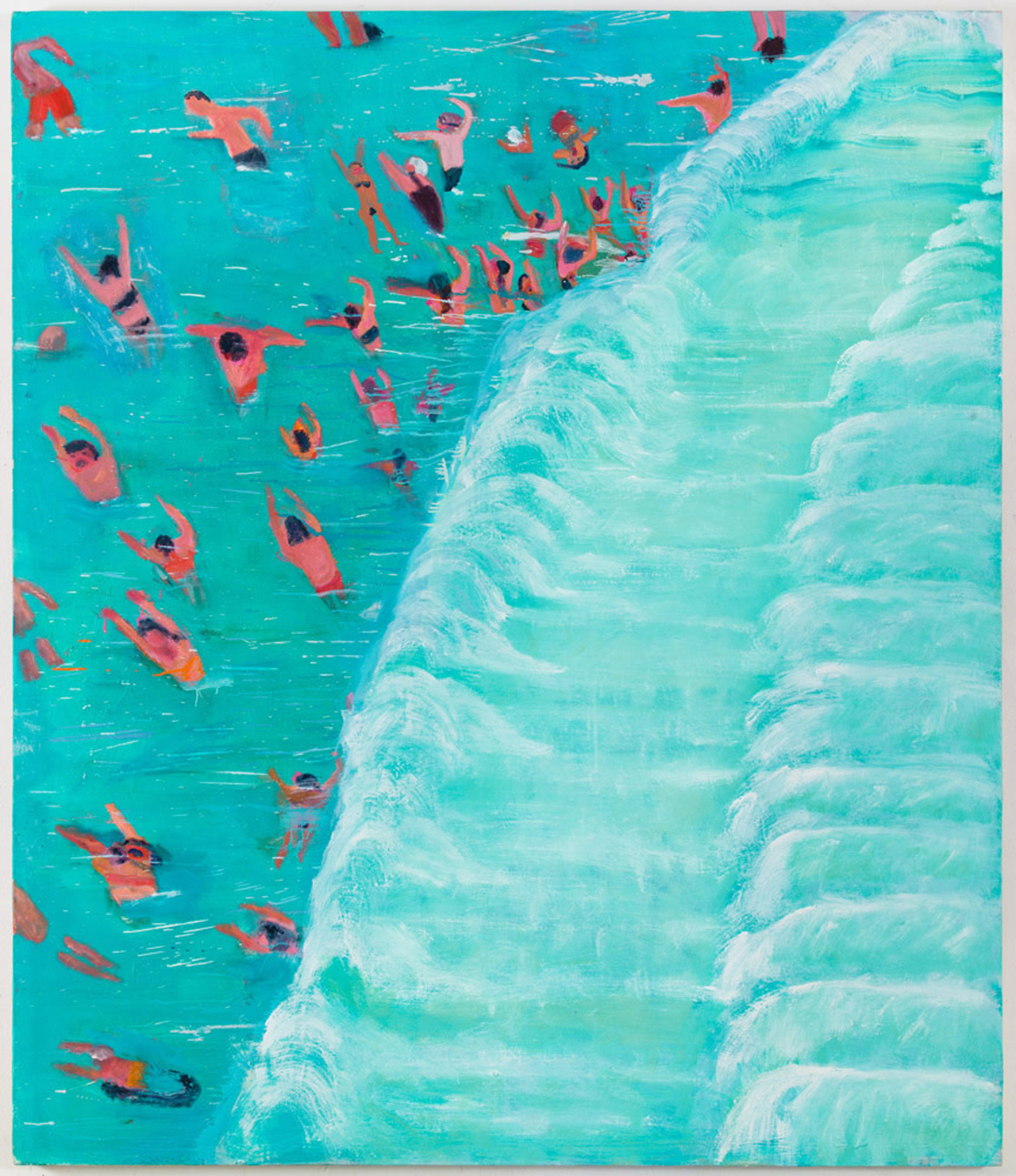 "Katherine Bradford, ""Fear of Waves"" (2015), oil on canvas, 68 x 80 inches, private collection"
