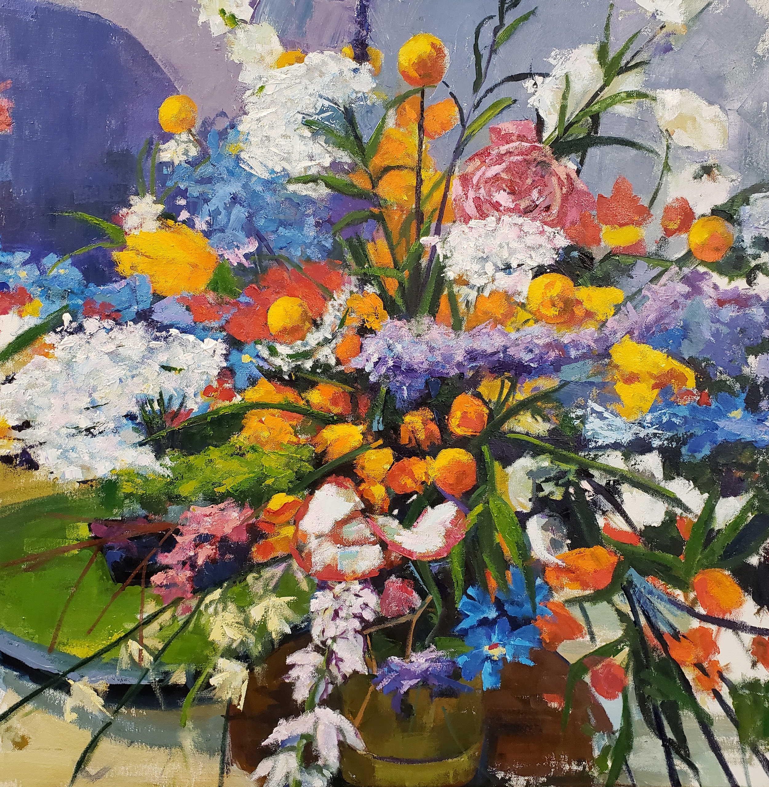 Still Life with Flowers  by Jenn Hallgren