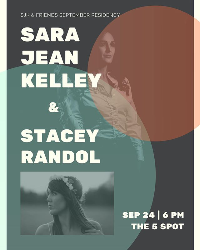 This Tuesday! Come hang out with me and my girl @staceyrandol ! Last show in the residency @the5spotnashville.