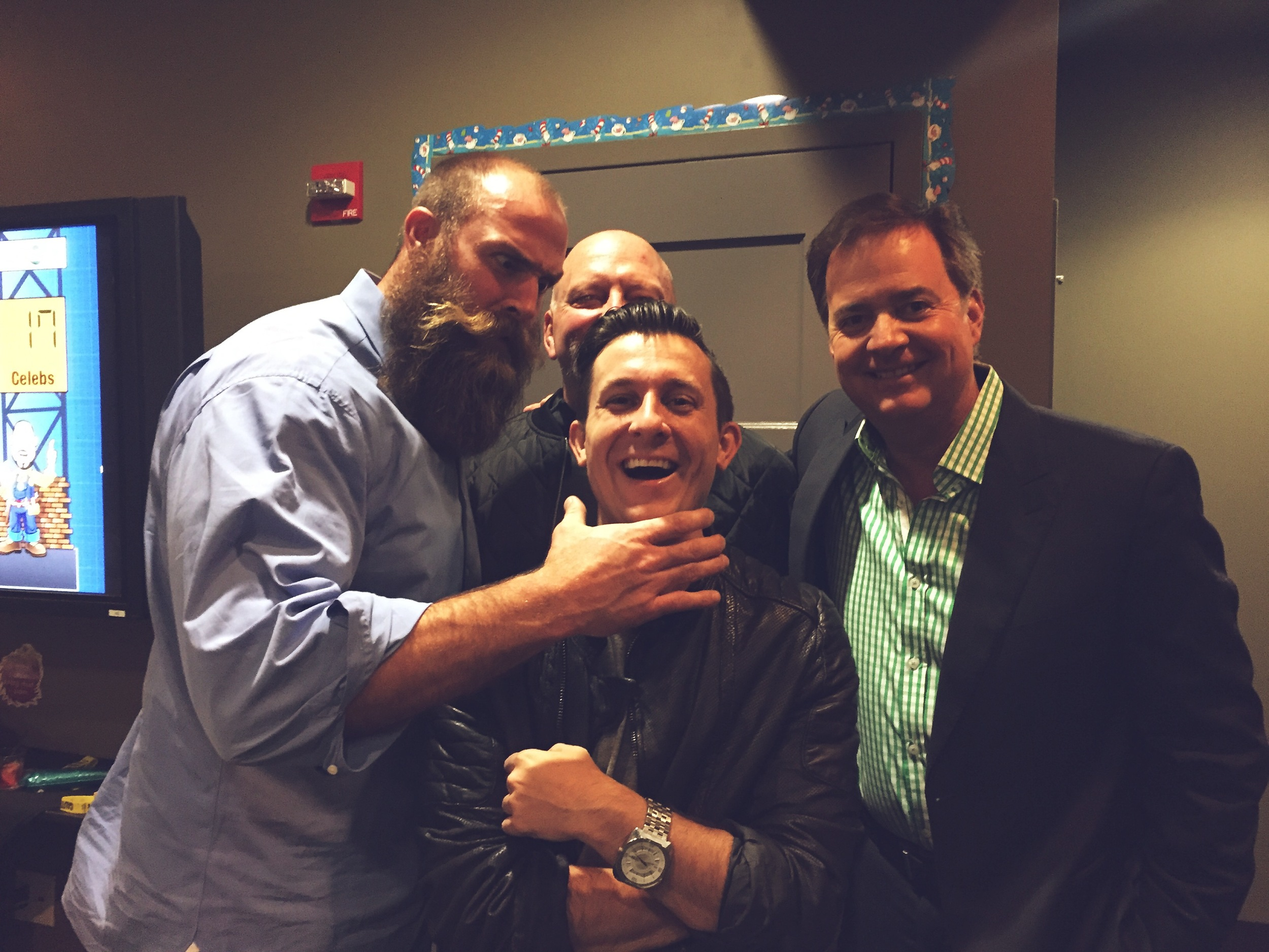 Brett Keisel ,  Craig Wolfley  &  Bob Pompeani  - This Is what happens when you don't fear the beard