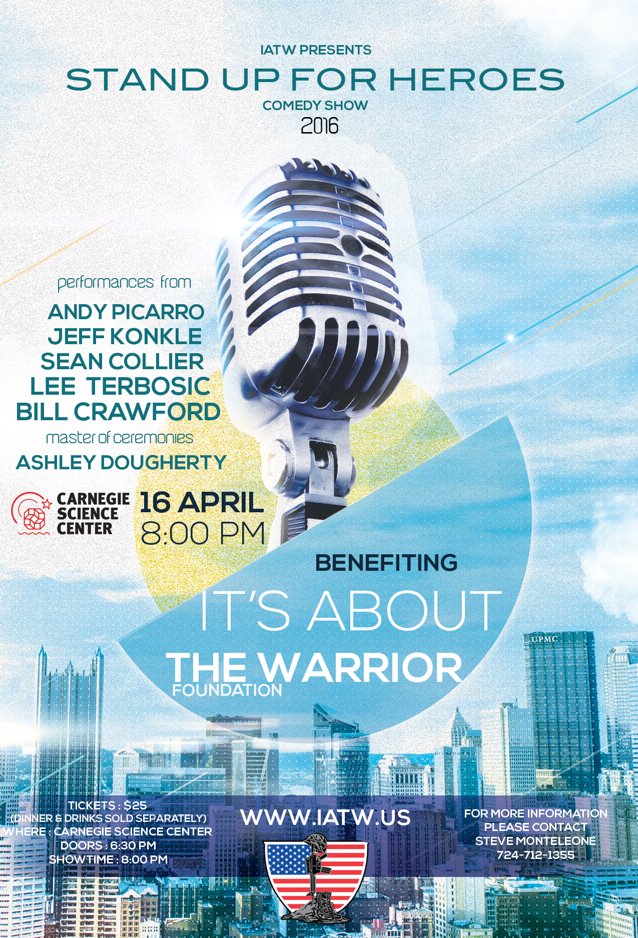 Lee Terbosic, Bill Crawford, WDVE, Pittsburgh, Its about the warrior, comedy