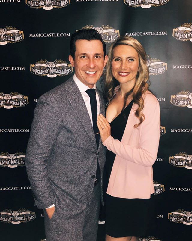 Took my beautiful fiancé out for a fancy dinner and a magic show last night @magiccastleofficial to celebrate. Thank you to everyone for all the love and kind words. ♥️