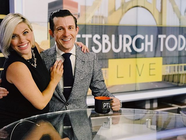 So much fun co hosting @pittsburghtodaylive this morning with @heatherabrahamkdka! Honored to fill in for the always dapper @davidhighfield 📺