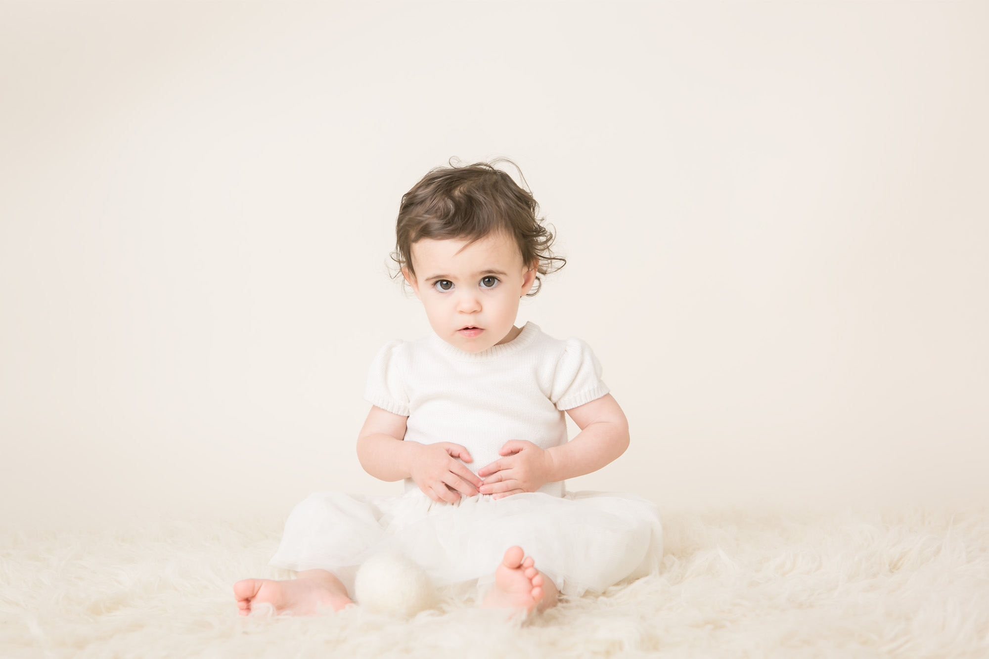 baby girl one year pictures adorable columbus ohio photographer
