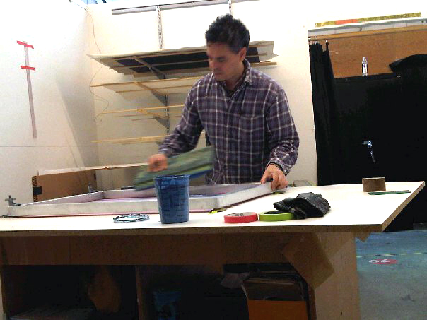 Mark Taylor in his studio circa 2011.