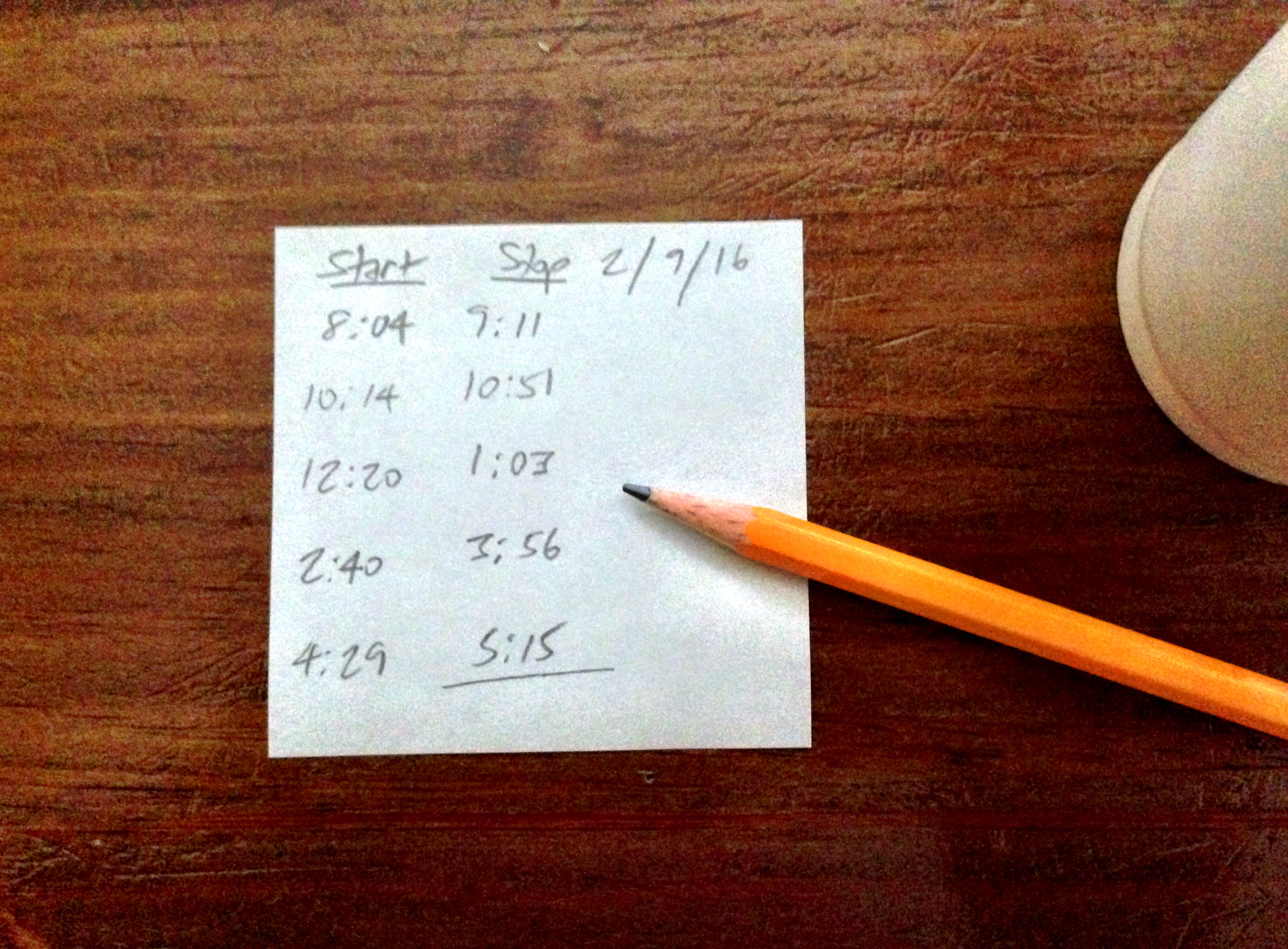 Manual time tracking