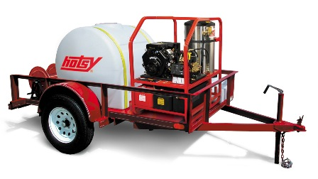 Hotsy pressure washer trailer unit
