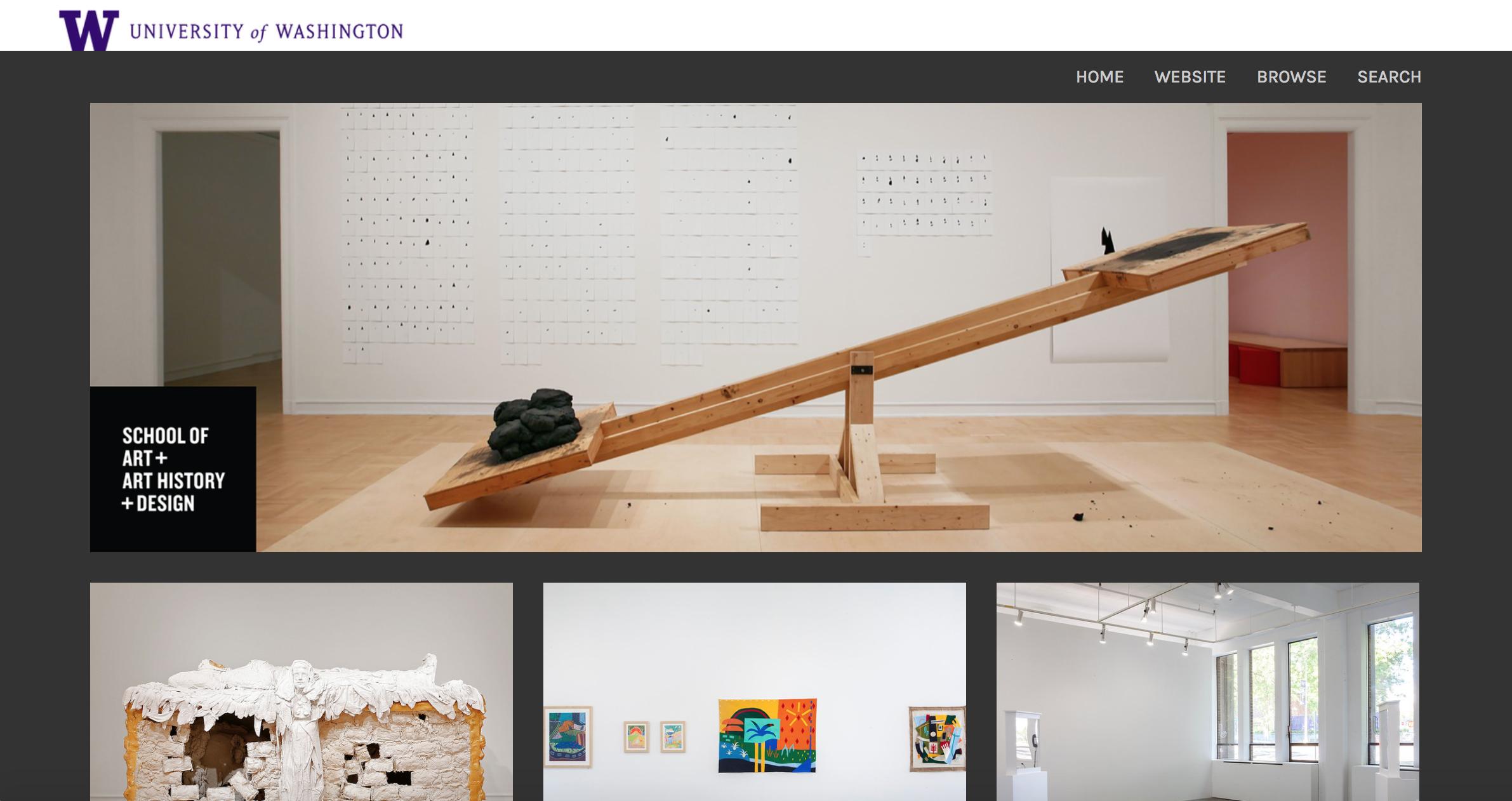 UW School of Art + Art History + Design Photo Website Homepage