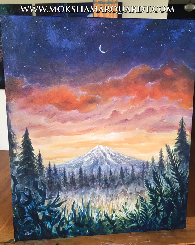8 hour painting (mountain)