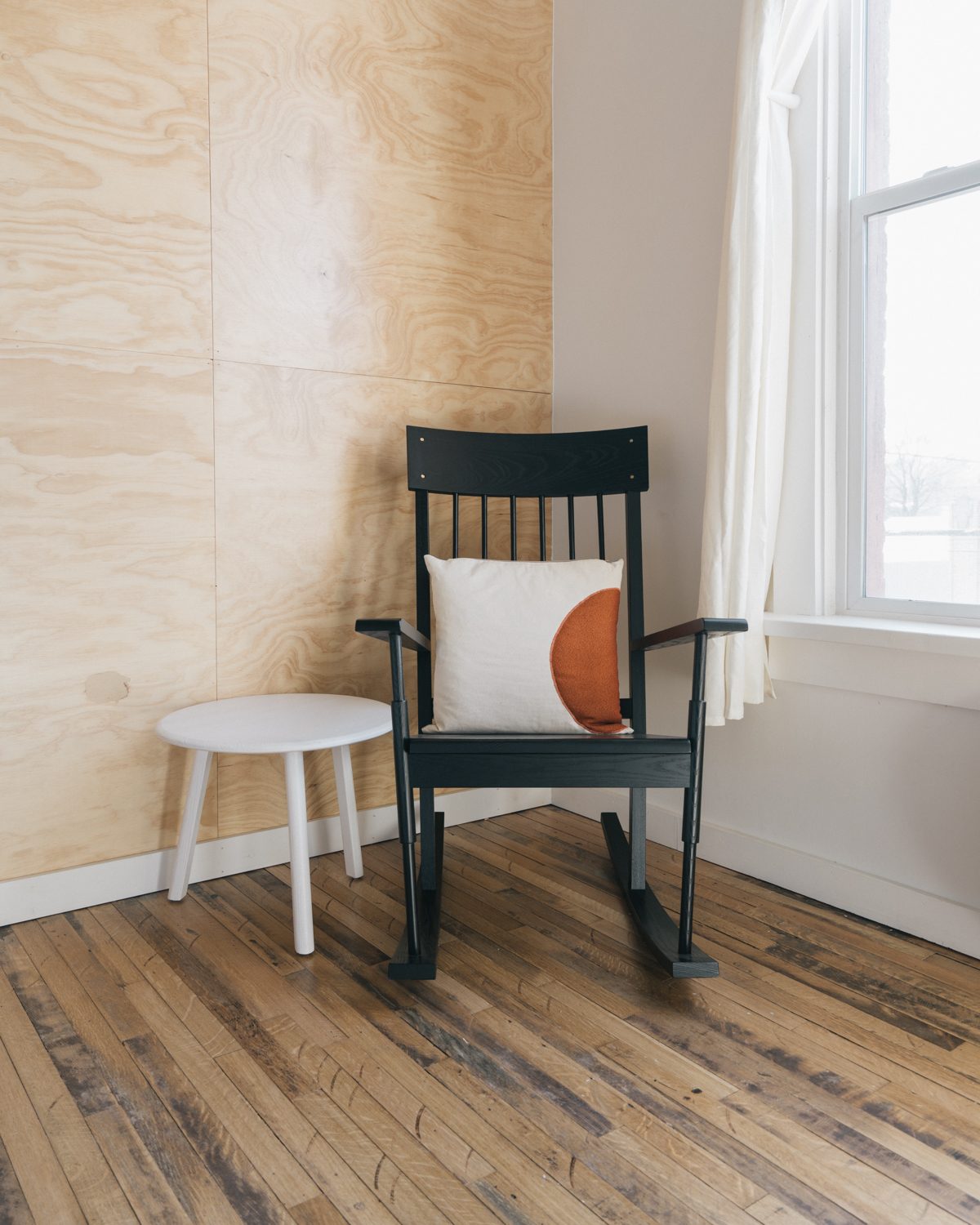 The O&G rocker and a  Brush Factory  side table