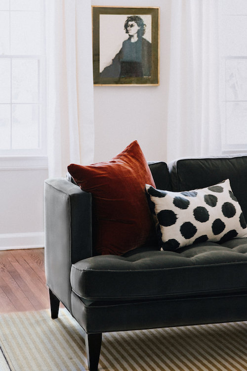 Eclectic Living Room Detail | CHUSED & CO.