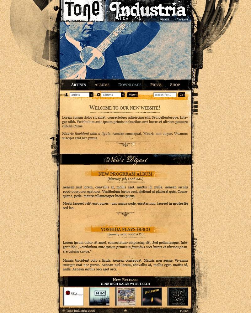 Tone Industria Website