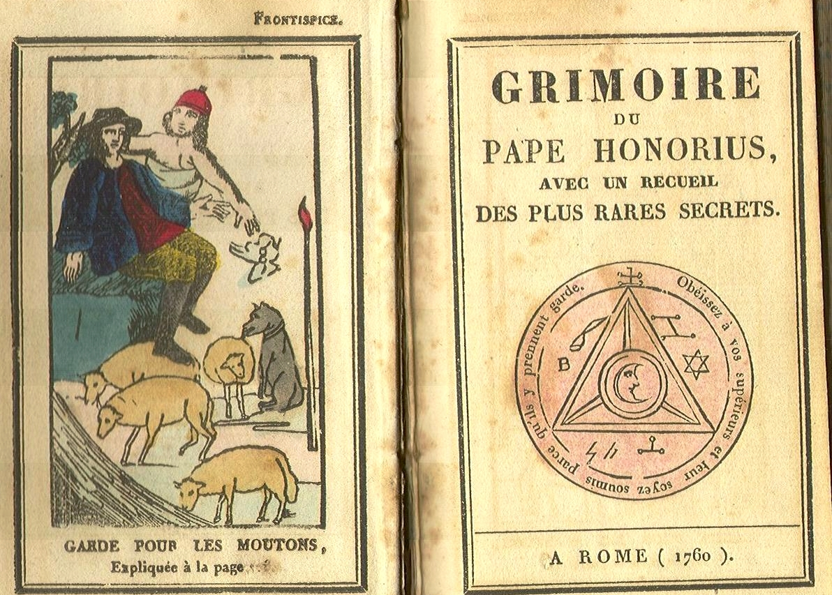 A Grimoire is a book of magic spells. This grimoire, intended to be used by a priest, was written by Pope Honorius III in 1760. It arguably contains some of the most perverse spells ever recorded in human history, partially for their inaccuracy. Papal and Church grimoires were published as late as the 18th century.