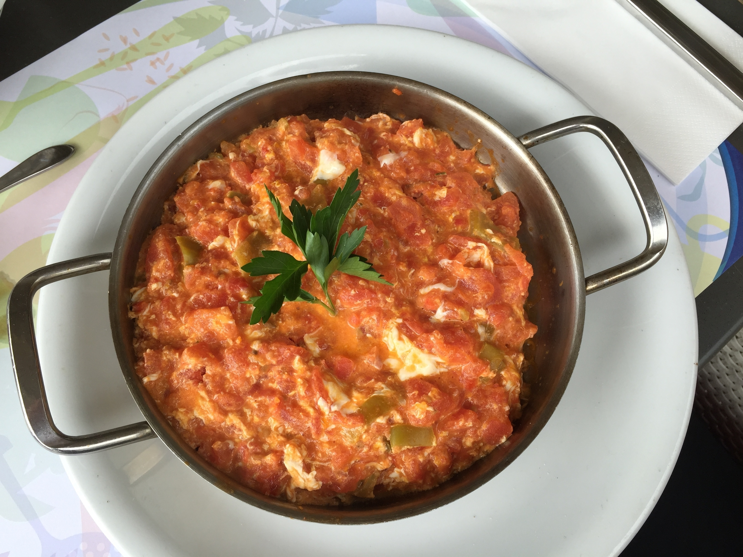 This is menemen. Scrambled eggs with fresh tomatoes.