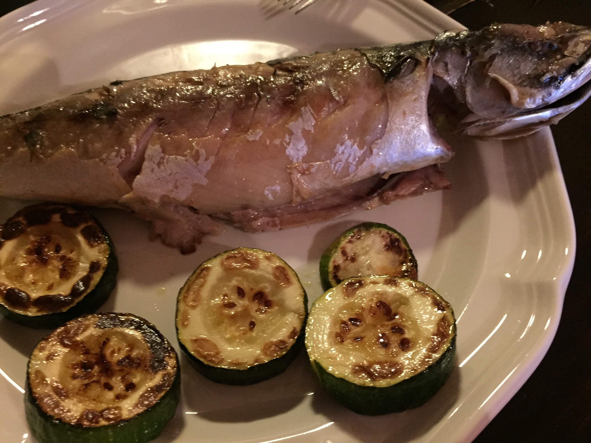 Pan Cooked Fish with Squash