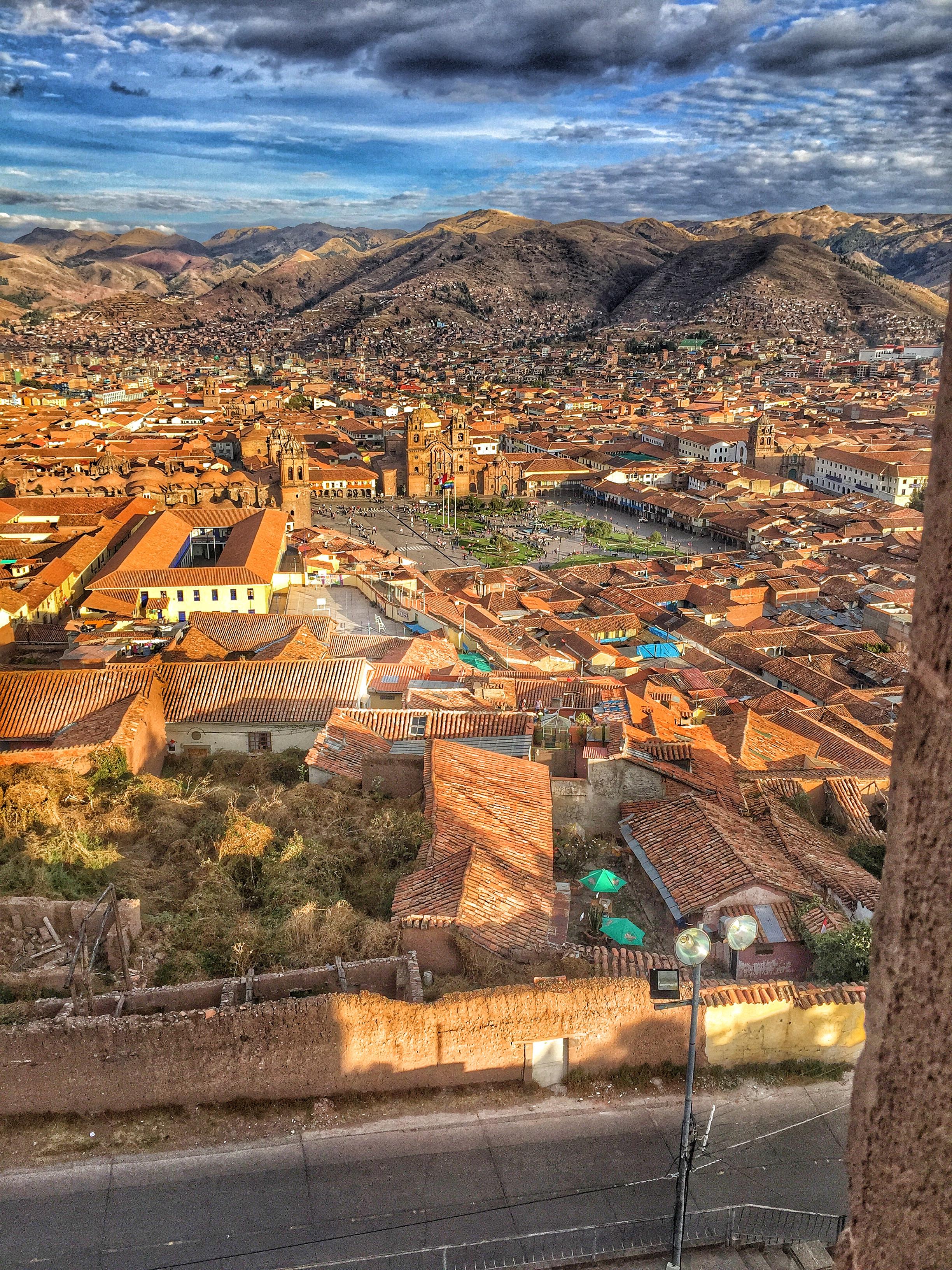 View of Cusco, Plaza de Armas from the San Cristobal Church.