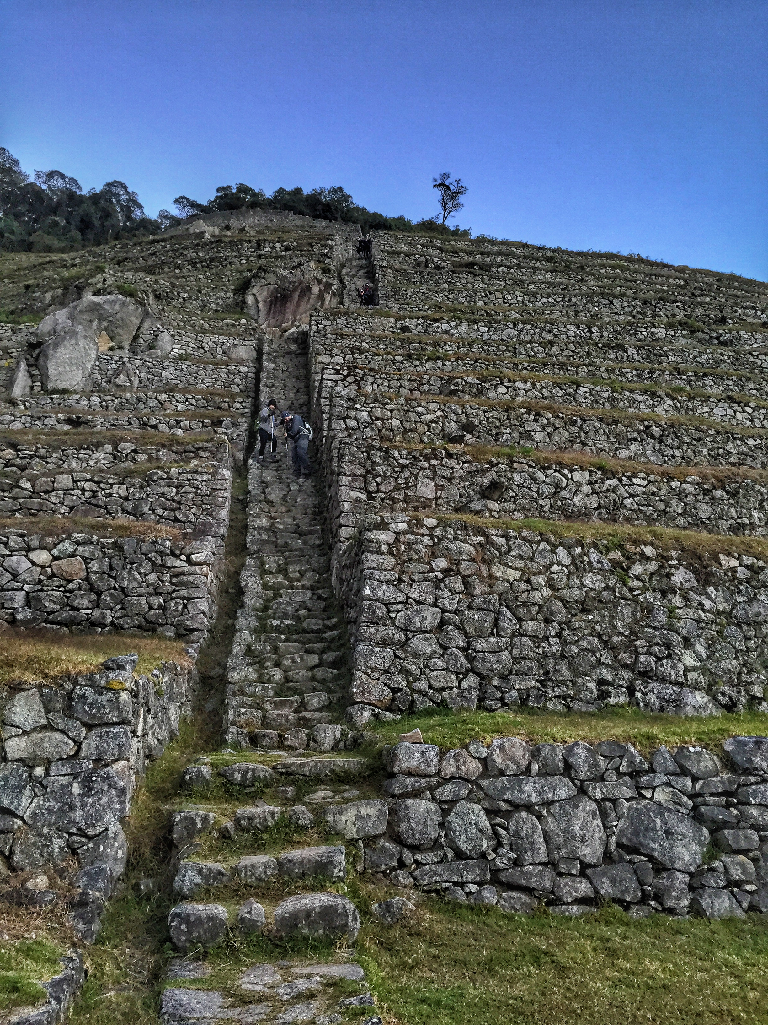 More steps at Intipata, but thankfully, it was getting light out.