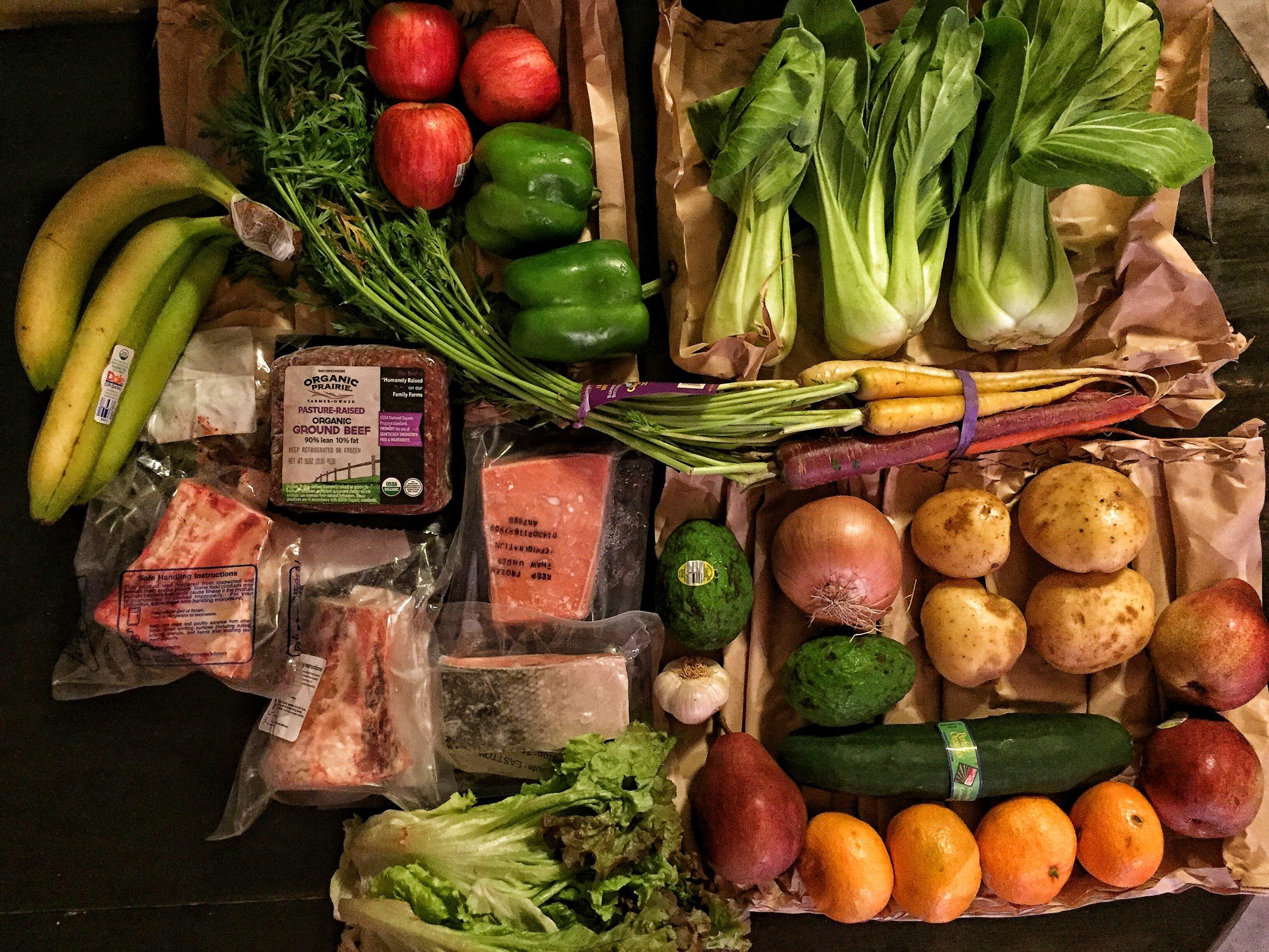 Door-to-Door Organics First Order. Costs was around $67.
