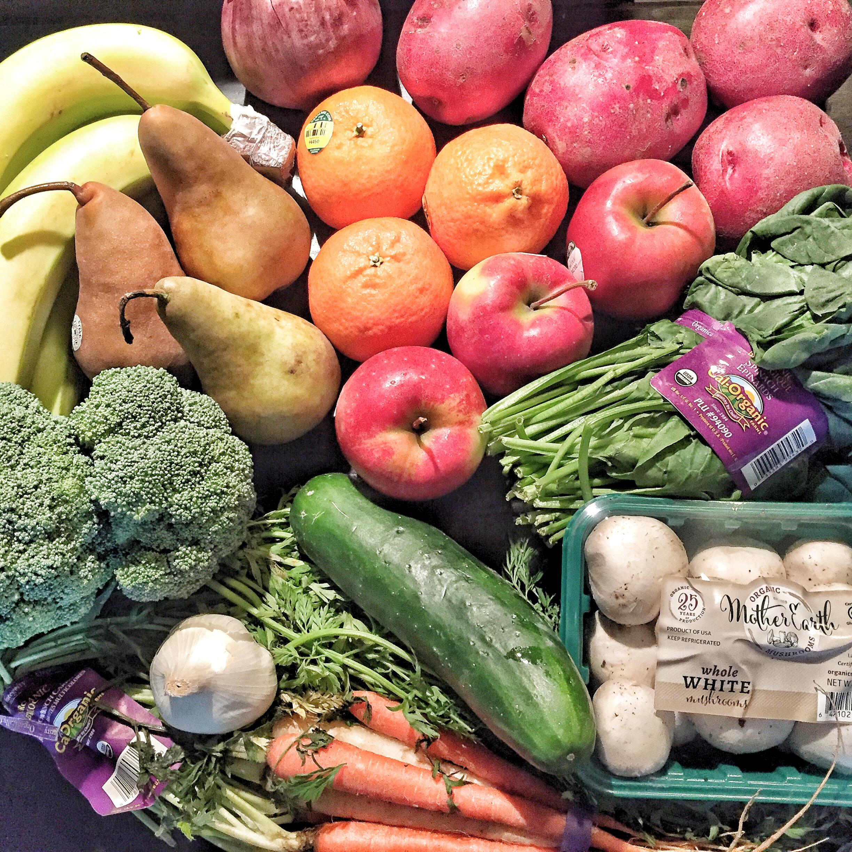 Door-to-Door Organics First Order. Costs was around $37.