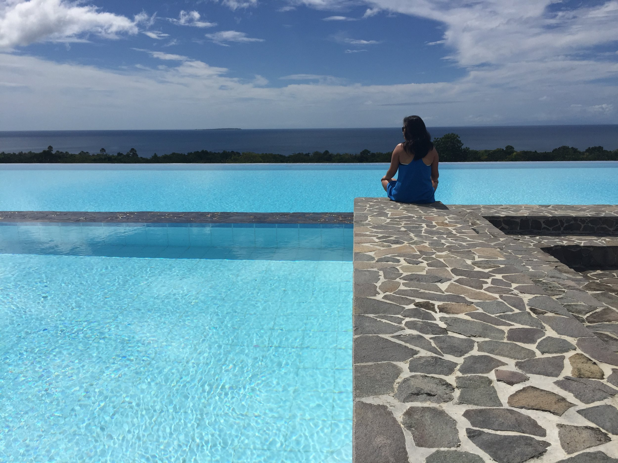 Hi infinity pool at The Peacock Garden in Bohol, Philippines.
