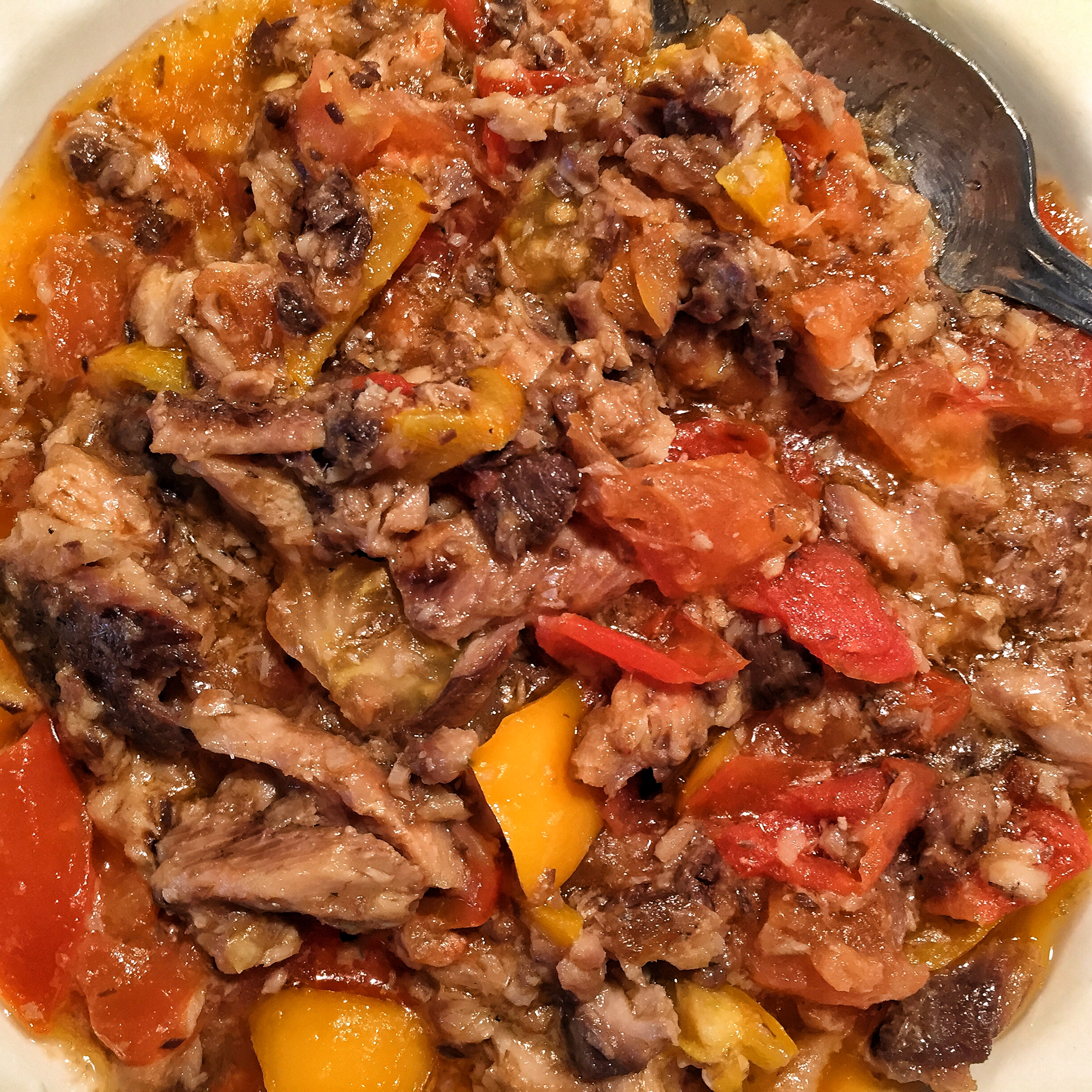 sardines-peppers-tomatoes