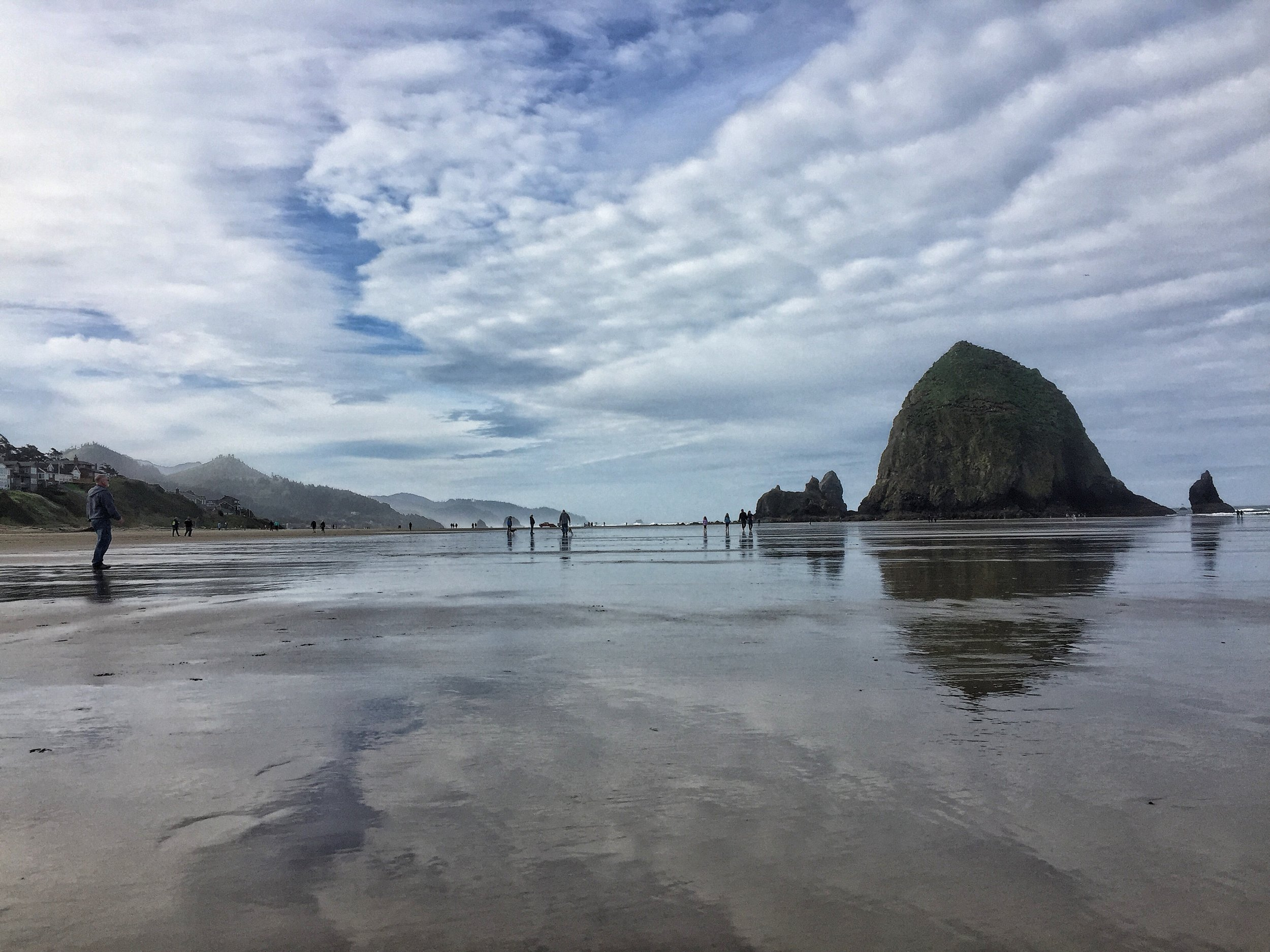 Cannon Beach and Haystack Rock or the Goonies Beach along the Pacific Coast.
