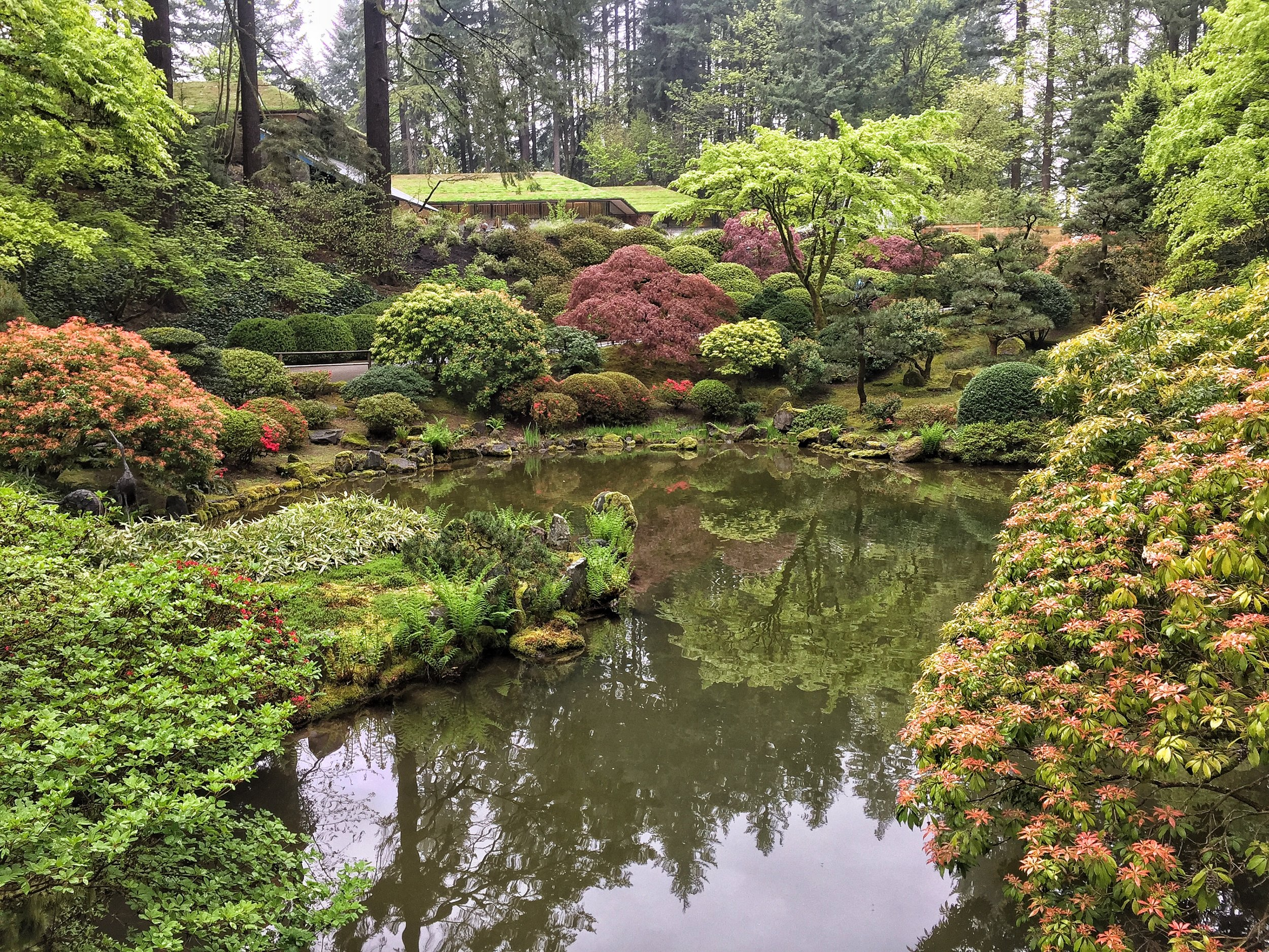 The Japanese Garden. Look at those colors! Gorgeous!