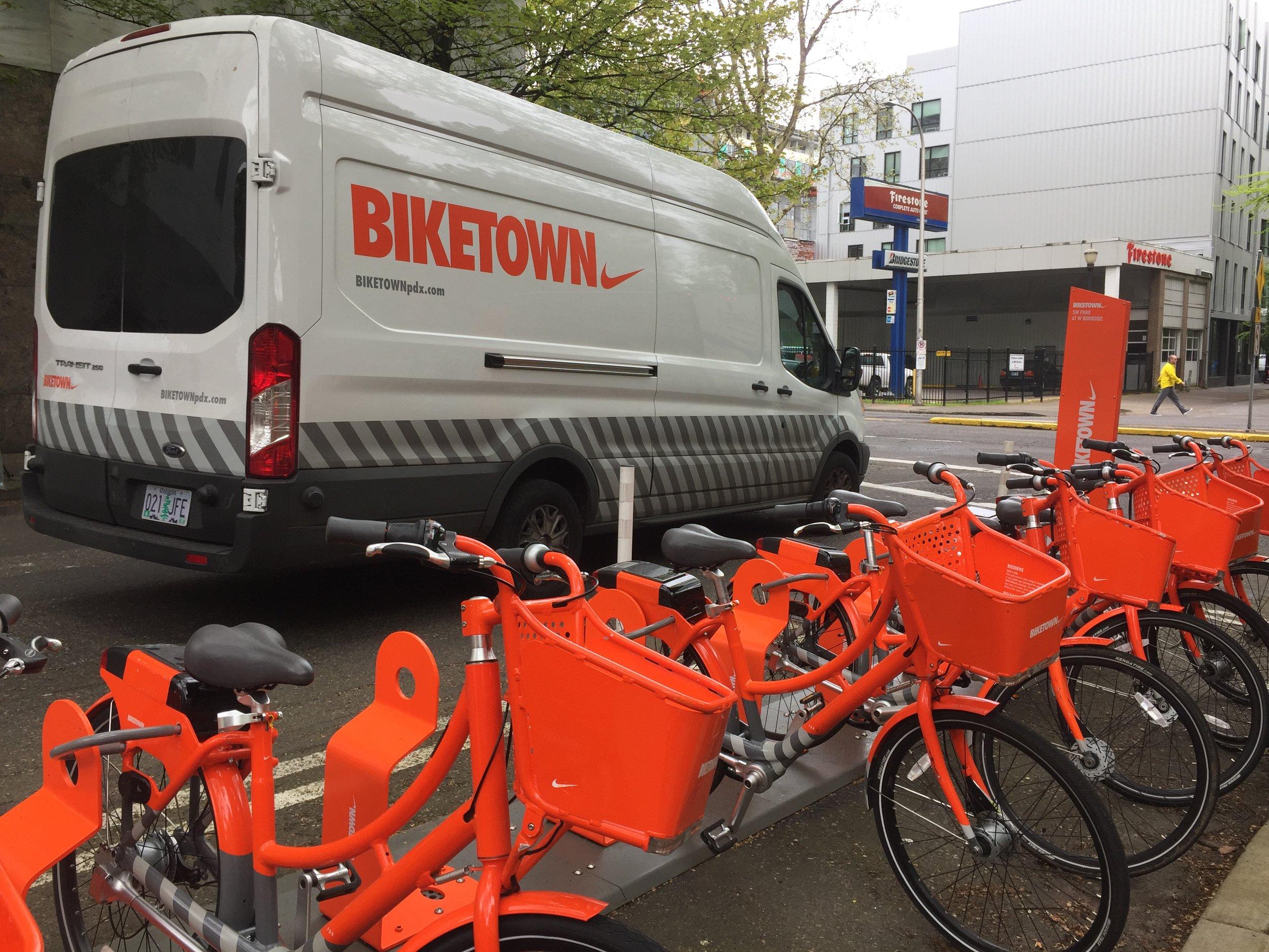 Portland city cycling program sponsored by Nike.