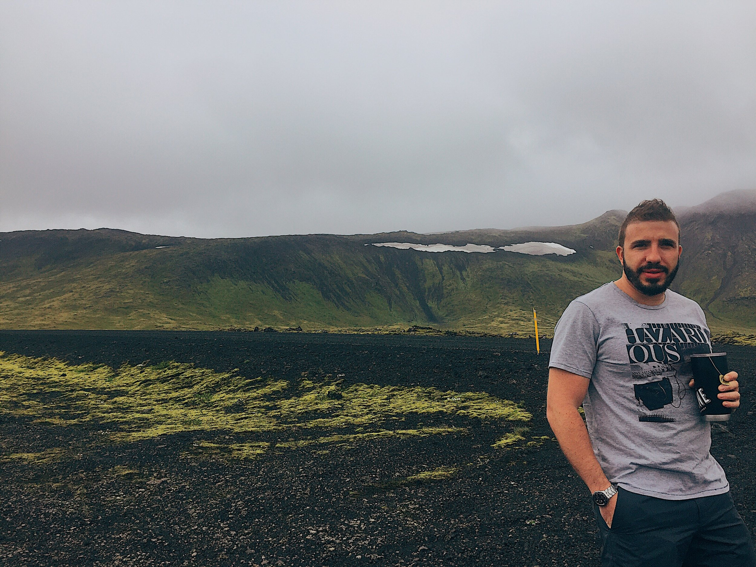 Chilling on a volcano!